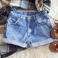 Vintage Cuffed Wrangler Shorts