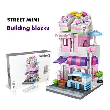 300-400 Pieces Children Mini Street Building Blocks Toy, Creative and Educational Puzzle Toys Building Block Accessories Grow Sa
