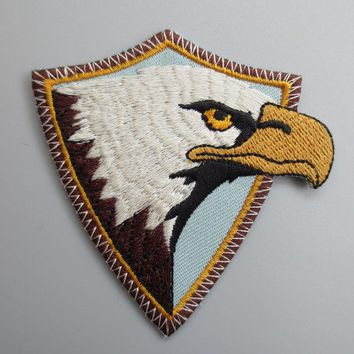 American Eagle hawk Embroidery Patches for Jacket back vest Motorcycle Club Biker  7.2cm *6.4cm