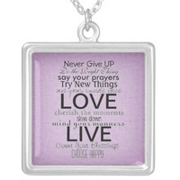 Inspirational Quotes and Sayings Necklaces