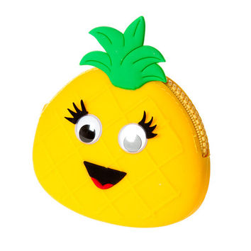 Googly Eye Pineapple Jelly Zippered Coin Purse