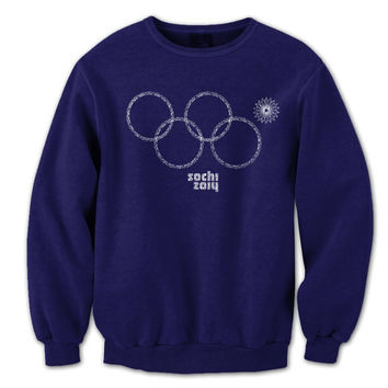 SOCHI Rings Snowflake - funny hip russia 2014 winter olympics opening ceremony olympic team usa s m l xl 2xl new - Mens Sweatshirt DT0401