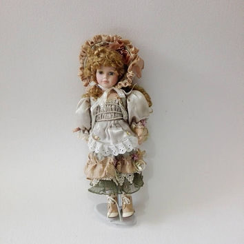 Porcelain doll, Vintage doll, French, handmade doll, porcelain, collectible doll, antique doll, doll porcelain, collectable doll, toy , doll