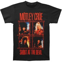 Motley Crue Men's  Shout Wire T-shirt Black