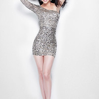 Love this One Sleeve Dress Full of Sparkles