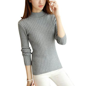 Colorful Apparel Women Sweaters And Pullovers Female Solid Wool Pullover Knitted Casual Oversized Pull Femme Sweater DR2378
