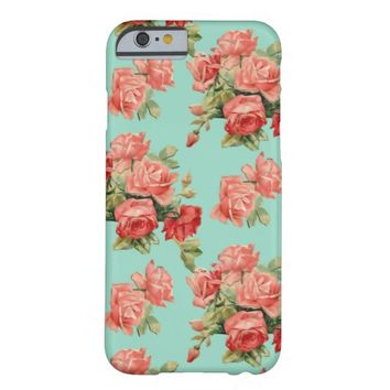 Antique Stylish Vintage Rose Garden Flower Pattern Barely There iPhone 6 Case