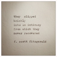 F. Scott Fitzgerald Love Quote Made On Typewriter