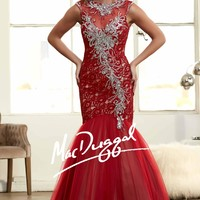 Mermaid Evening Gown in Lace and Soft Tulle 65091H from SIMPLE ELEGANCE