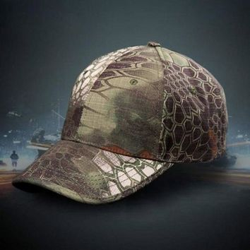 1Pcs Camouflage Outdoor Military Army Sport Baseball Cap Snake Pythons Grain Camping Hunting Camo Sun Hat Peaked Caps