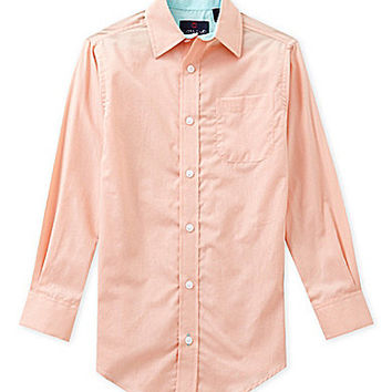 Class Club 8-20 Long-Sleeve Sportshirt - Salmon