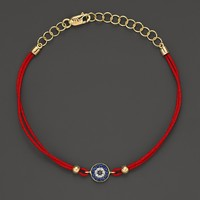 Meira T Diamond, Blue Sapphire And 14K Yellow Gold Evil Eye Bracelet