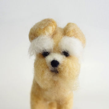 MADE TO ORDER - Needle Felted Sculptures - Schnauzer Dog - Miniature Wool Felt Dog