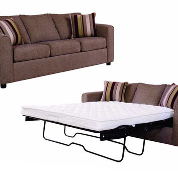 Metal Flyer Queen Serta-Pedic Sleeper Sofa