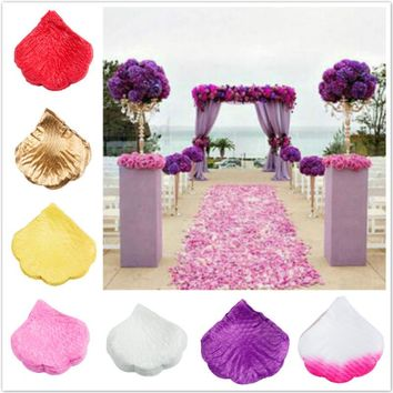 1000PCS Flowers Silk Rose Petals Wedding Party Table Confetti Decoration Flowers Petals for Party Celebration Party Decoration