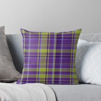 'TARTAN 8005' Throw Pillow by IMPACTEES