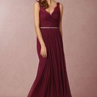 Fleur  Wedding Guest  Wedding Guest Dress by Anthropologie x BHLDN in Black Cherry Size: