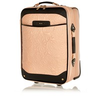 Light pink floral quilted suitcase - make up bags / luggage - bags / purses - women