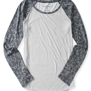 Long Sleeve Geo Raglan Tee