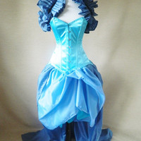 Last Chance To Buy Air Force And Ice Blue Cinderella/Alice Bustle Skirt Set-One Size Fits All