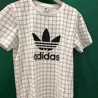 adidas Originals Trefoil Plaid t-shirt