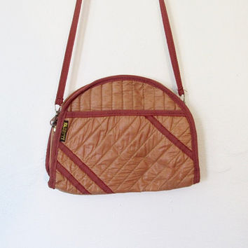 Vintage 1980s New Wave / Rocker Bagatti Quilted Shoulder Bag / Clutch Purse