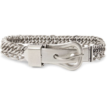 Maison Margiela - Silver Buckle and Chain Bracelet