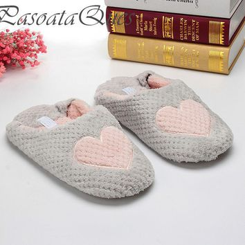 women home slippers warm winter cute indoor house shoes bedroom room for guests adults  number 1