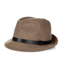 Leather-band felt trilby | Gucci | MATCHESFASHION.COM US