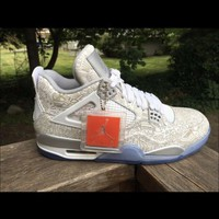 DCCK Air jordan Retro 4 Laser Mens Size 10.5