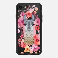 FLOWER LAMA by Monika Strigel iPhone 7 Hülle by Monika Strigel | Casetify