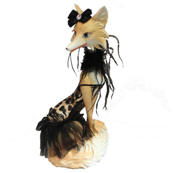 Elegant fox figurine