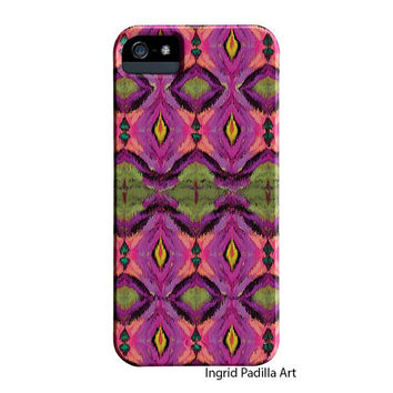 Ikat, pattern, iPhone 6 Case, Artist, iPhone Case, purple, Funky, Abstract, Art, iPhone 5 cases, by Ingrid, iPhone 5S case, iphone6 case