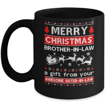IKCKIJ3 Merry Christmas Brother-In-Law A Gift From Your Sister-In-Law Sweater Mug