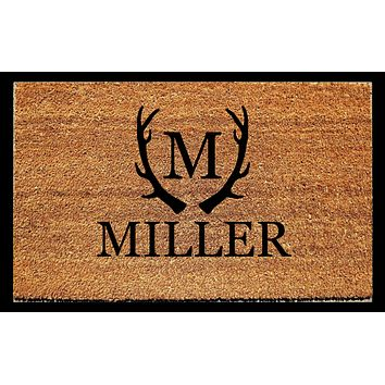 Personalized Antler Doormat