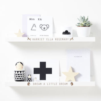 Personalised Unicorn Shelf