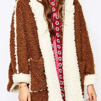 Native Rose X Native Knits Joplin Dakota Teddy Coat with Hood