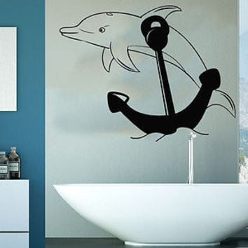 Wall Decal Nautical Anchor Ocean Sea Nursery Anchor Living Room Home Decor C201
