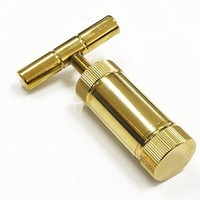 "Golden T Press 3.5"" Tool Pollen T Press Heavy Duty Metal T Shape, Spice Pollen"