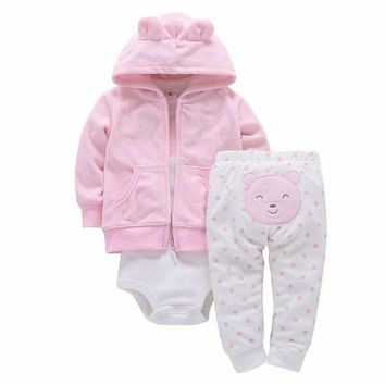 Girls / Boys 3 piece Pants , bodysuit And Hoodie Set