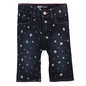Levi's Charlene Sparkle Denim Bermuda Shorts - Toddler Girl, Size: