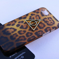 Iphone 5 case cover,Harry portter Deathy Hallows iphone5 case,Leopard luwury  iphone case,Hard iphone5 case