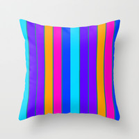 Long Happy Stripes #2 co.1 Throw Pillow by 2sweet4words Designs | Society6