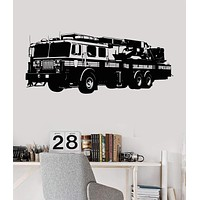 Vinyl Wall Decal Fire Truck Engine Firetruck Boys Room Stickers Mural Unique Gift (ig2812)