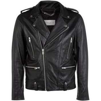 Sandro Thrasher Leather Jacket