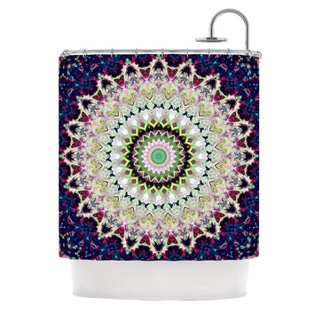 "Iris Lehnhardt ""Summer of Folklore"" Pink Navy Shower Curtain"