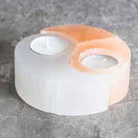 Selenite Yin-Yang Candle Holder