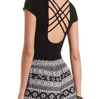 Caged-Back Plunging Sweetheart Bodysuit by Charlotte Russe