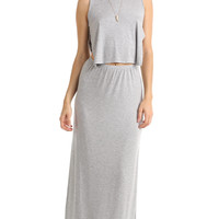 BASKET WEAVE BACK MAXI DRESS