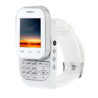 "Super dupper FM Radio  Dual card slide Smart Watch Phone 1.44"" Super Screen 32GHz 32MB(RAM)+32MB(ROM) 0.08MP GSM900/1800 with Keyboard. This smart watch rocks. Comes in black and white.  What ever your flavor you want ."
